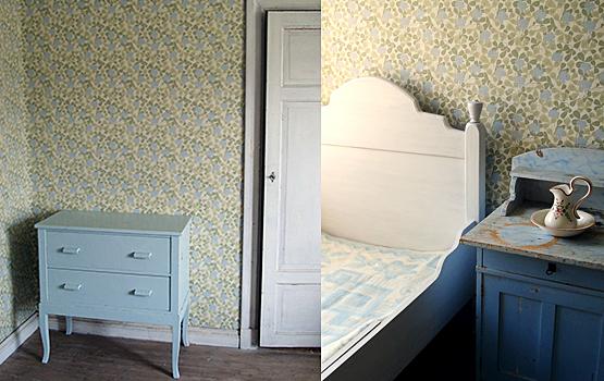 Pinspiration Mörkblå sovrum Gilan Design