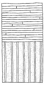 Parallellsågat golv